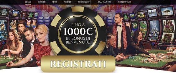 Casino Voglia di Vincere 1.000 EUR gratis IN BONUS DI BENVENUTO